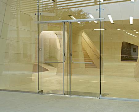 cửa  nhôm kính bản lề sàn